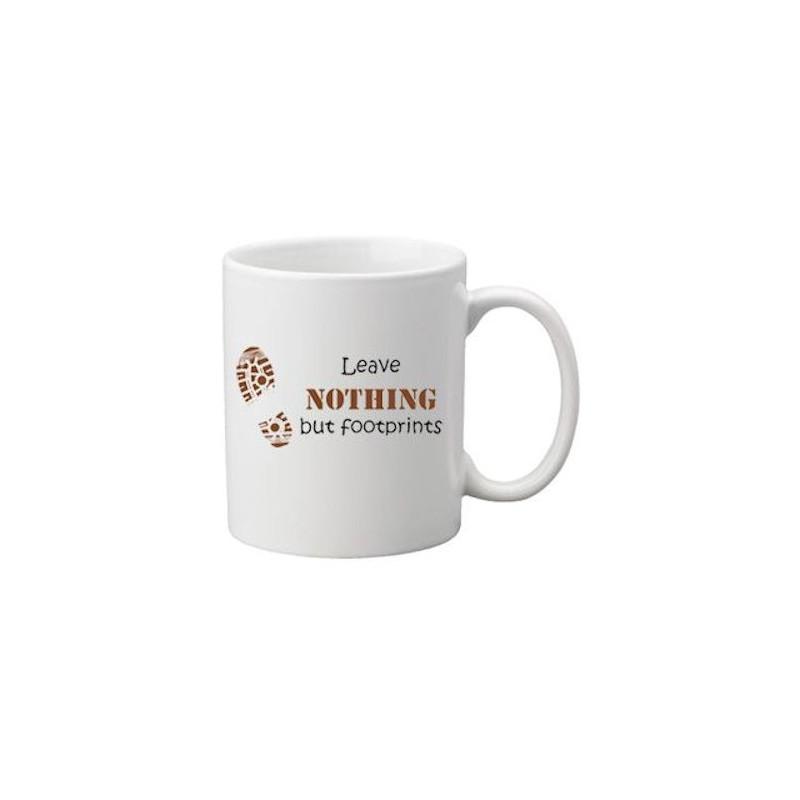 Coffee + tea Mug: Footprints