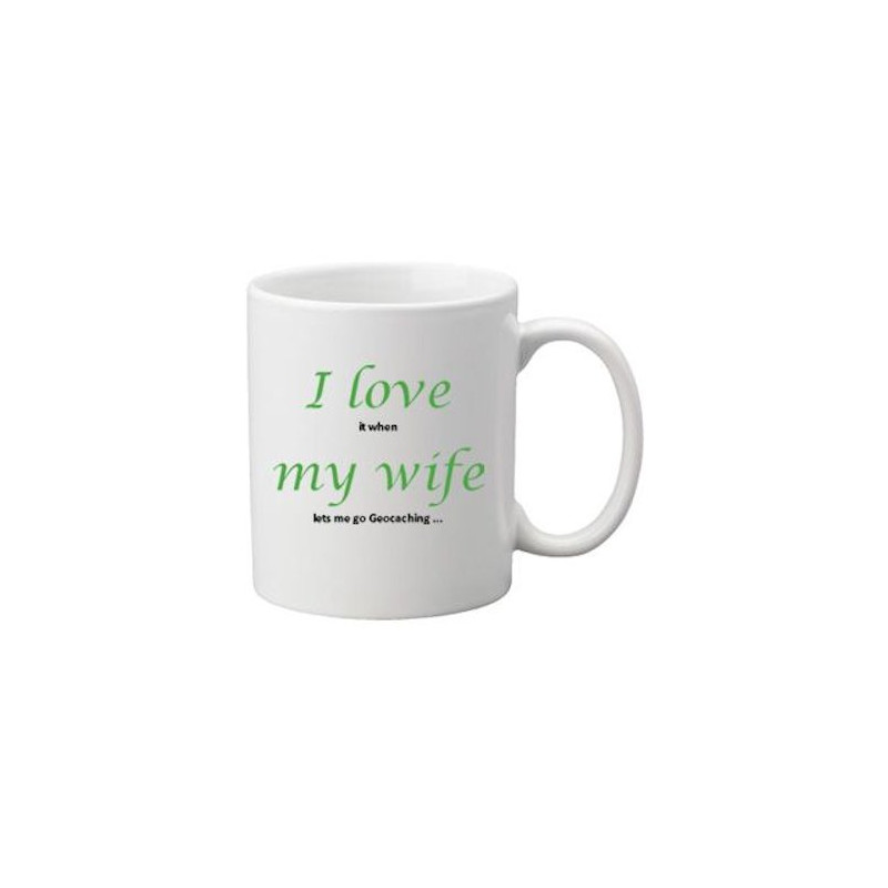 Koffie + thee mok: I love my wife