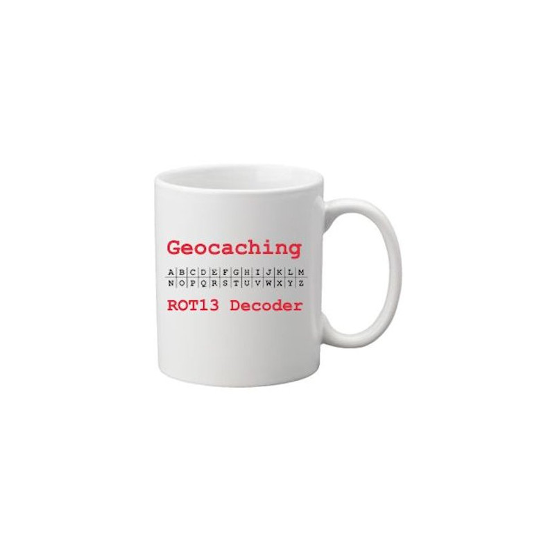 Coffee + tea Mug: ROT 13 decoder