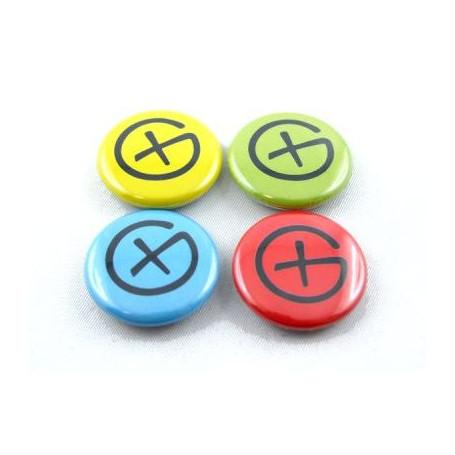 Button Set - Geocaching Logo (4 stuks)