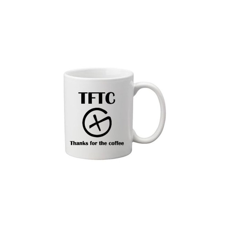 Coffee + tea Mug: Thanks for the Coffee