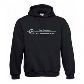 "Hoody ""Co-ordinates"" with Teamname"
