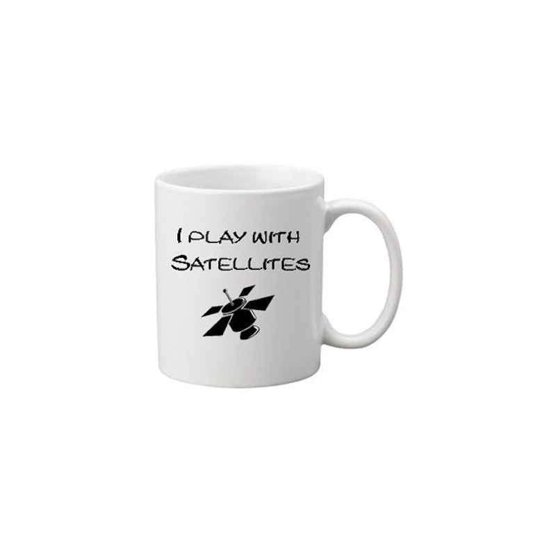 Koffie + thee mok: Play with Satelites