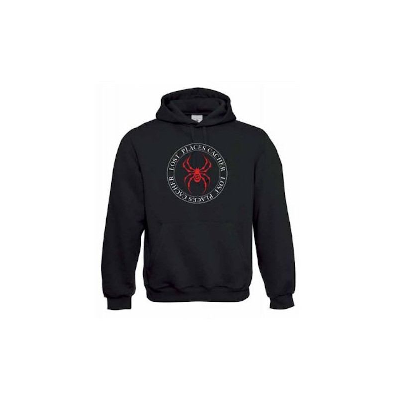 "Hoody ""Hoody ""Lost Places"" - spider red"