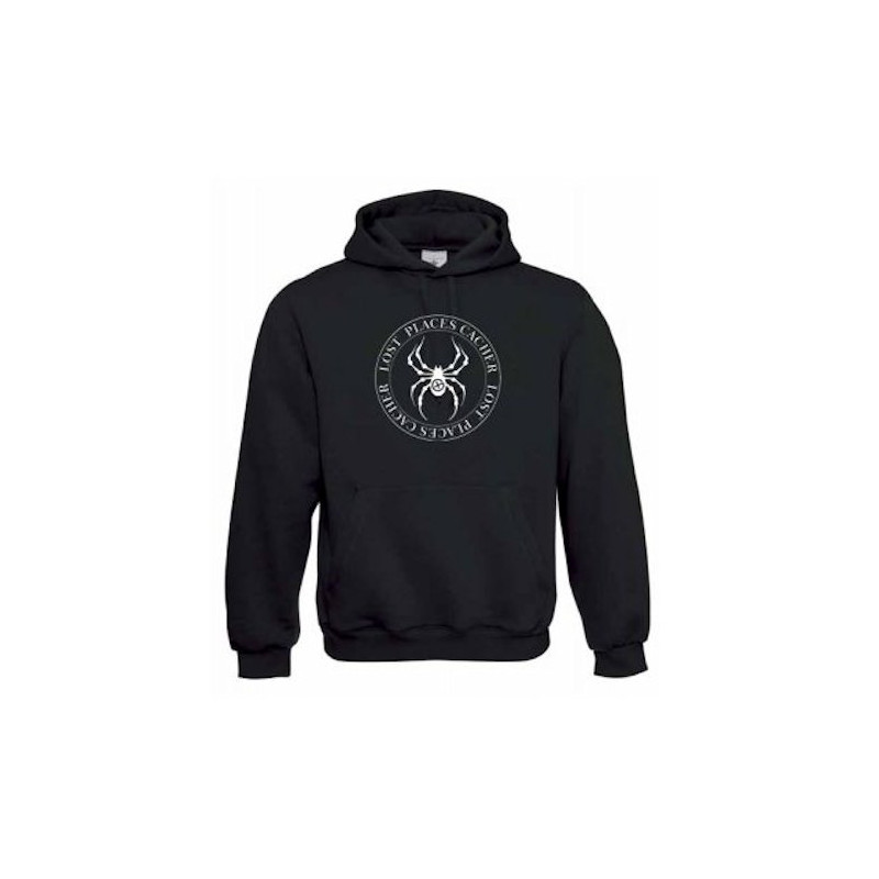 "Hoody ""Lost Places"" - Spinne Weiss"
