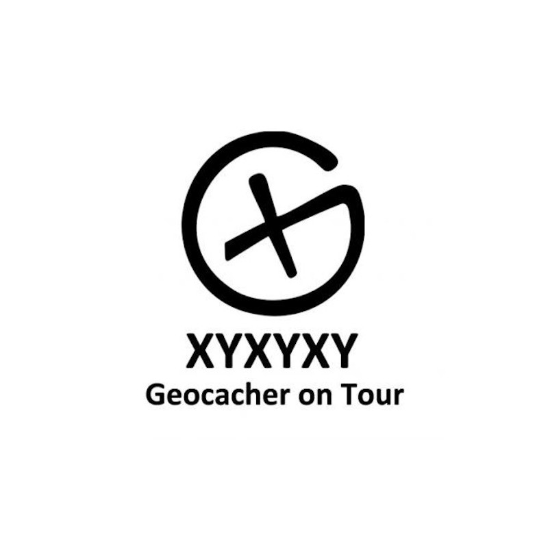 Geocacher on tour - trackable sticker