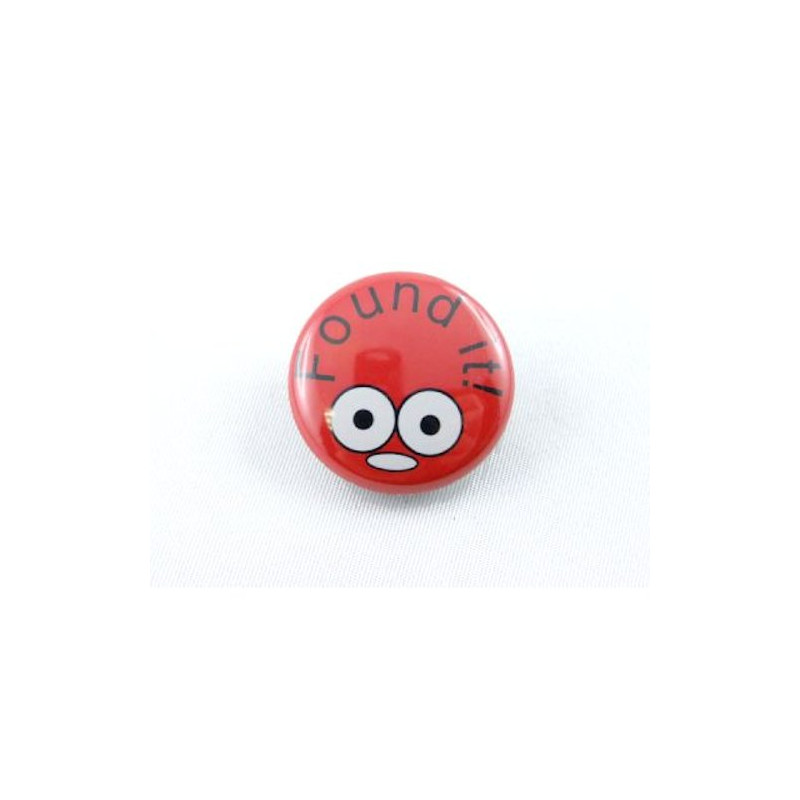 Button - Found It - Rot
