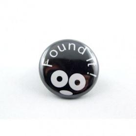Button - Found It - Schwarz
