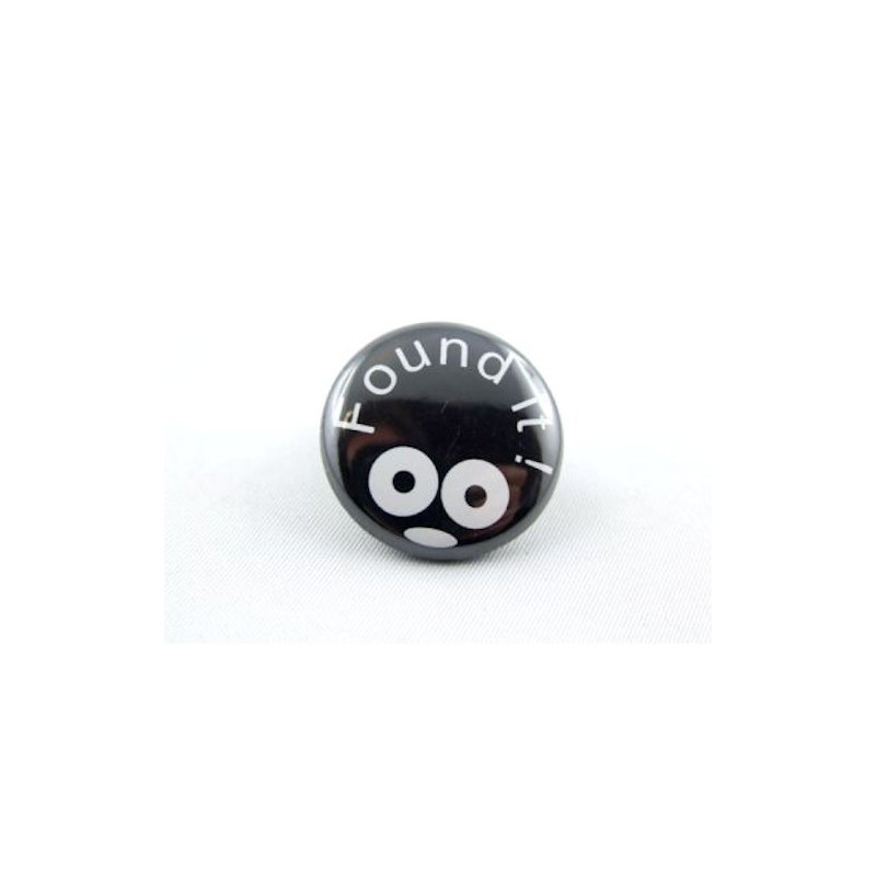 Button - Found It - Black