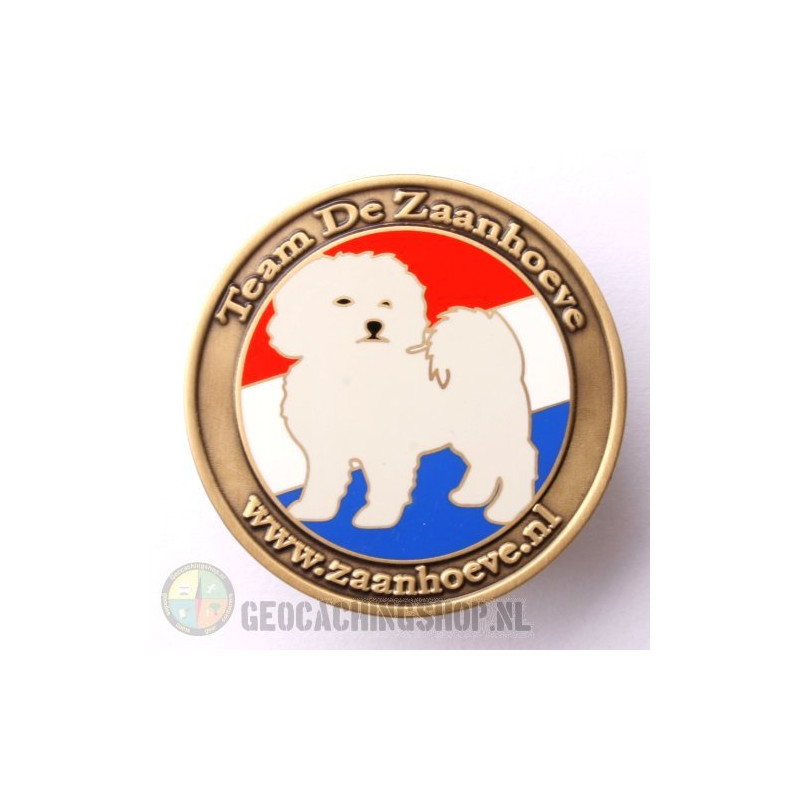 Zaanhoeve geocoin - antique gold LE