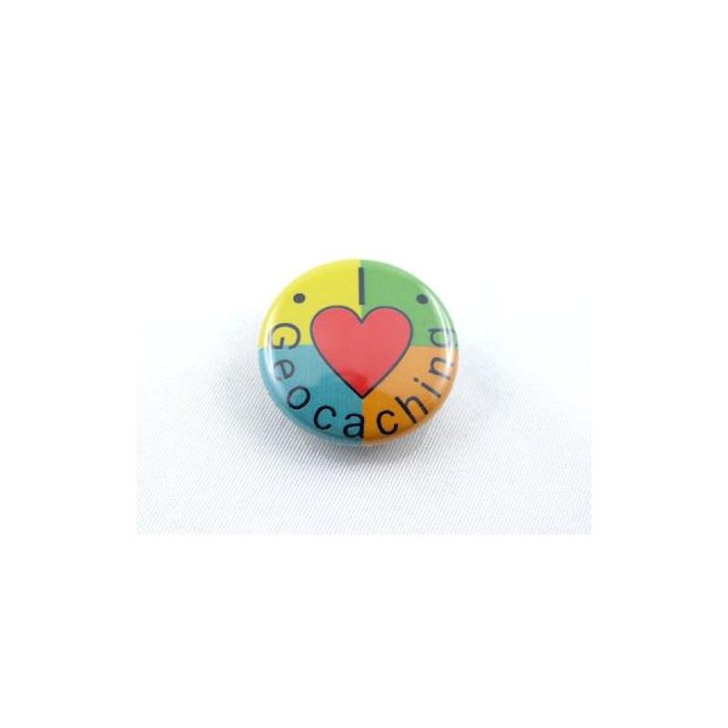 Button - I-Love-Geocaching-4kleurig
