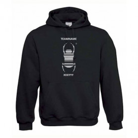 Hoody with Travel Bug with teamname