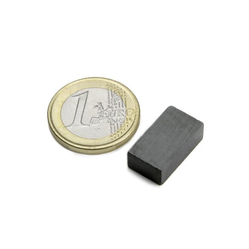 Quadermagnet,  18 x 10 x 6 mm - 5 stück