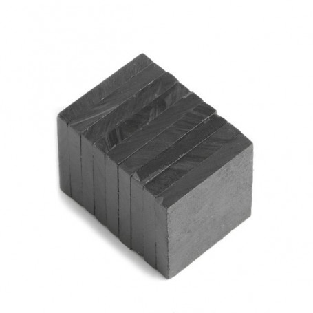 Quadermagnet, 20 x 20 x 3 mm - 5 stück