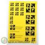 Stickersheet A5 - Yellow