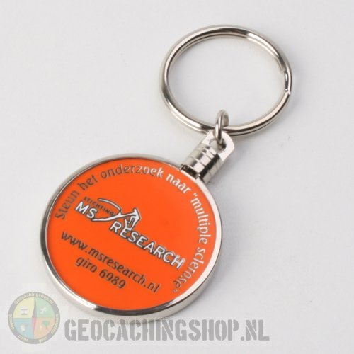 Geocoin ring   38m zilver