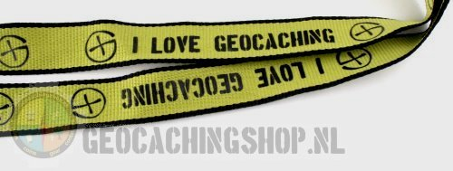 Lanyard Green I love Geocaching