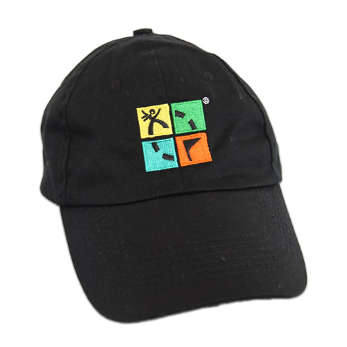 Hat, black with logo