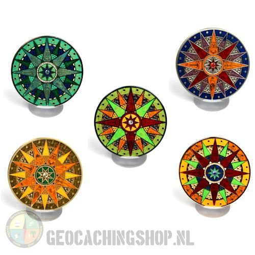 Compass rose geocoin 2012