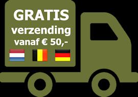 Gratis verzending vanaf €75,-